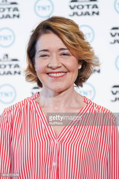 actress Maria Pujalte attend the 'Vota Juan' photocall at Palace Hotel on June 14 2018 in Madrid Spain