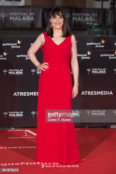 Actress Maria Ribera attends 'Las Distancias' premiere during the 21th Malaga Film Festival at the Cervantes Theater on April 17 2018 in Malaga Spain