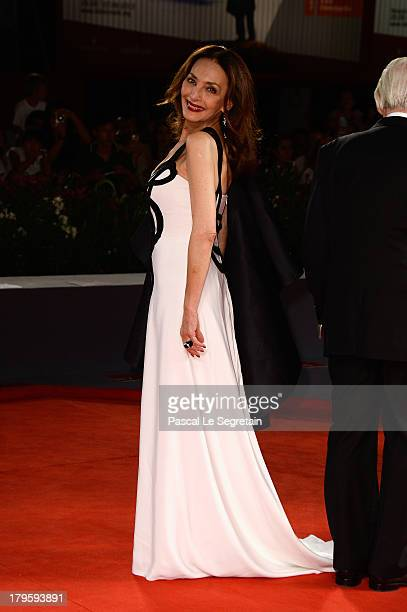Actress Maria Rosaria Omaggio attends the 'Walesa Man Of Hope' Premiere during the 70th Venice International Film Festival at the Palazzo del Cinema...