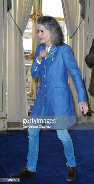 Actress Maria Schneider receives decoration at the Ministry of Culture on July 1 2010 in Paris France