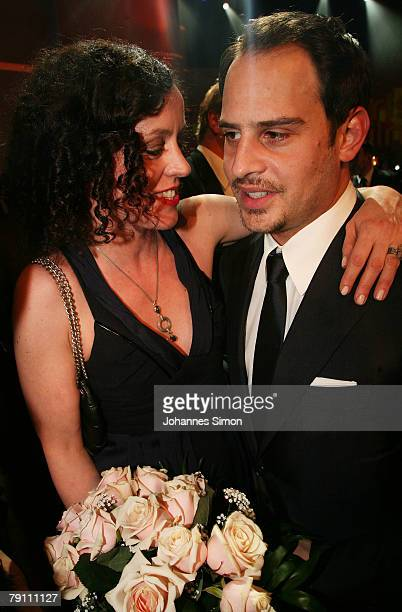 Actress Maria Schrader and actor Moritz Bleibtreu are seen after the awarding ceremony of the Bavarian Film Awards on January 18 2008 in Munich...