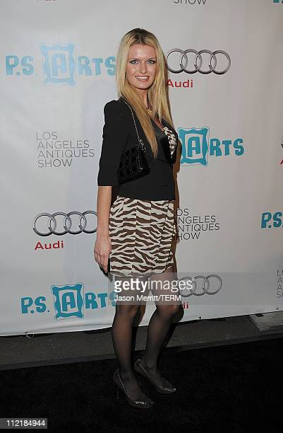 Actress Maria Shopova arrives at the 16th Annual Los Angeles Antiques Show on April 13 2011 in Santa Monica California