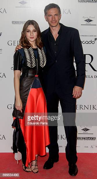 Actress Maria Valverde and actor James D'Arcy attend the 'Gernika' premiere at Palafox cinema on September 5 2016 in Madrid Spain