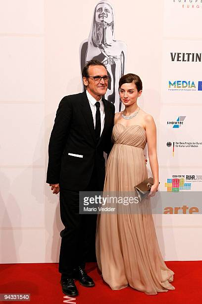 Actress Maria Valverde and Alberto Iglesia attend the 22nd European Film Awards at the Jahrhunderthalle on December 12, 2009 in Bochum, Germany.