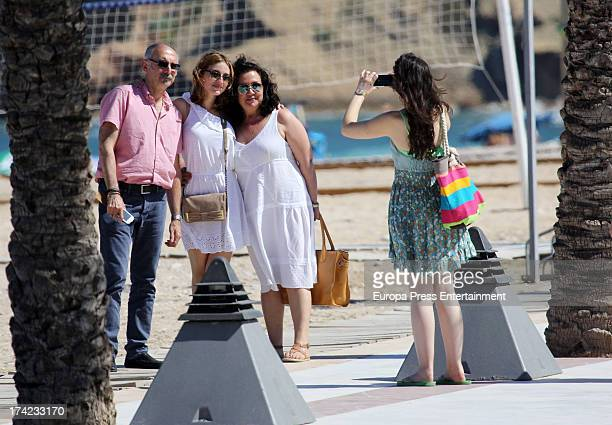 Actress Maria Valverde and her parents are seen in Alfas del Pi on July 6 2013 in Alicante Spain