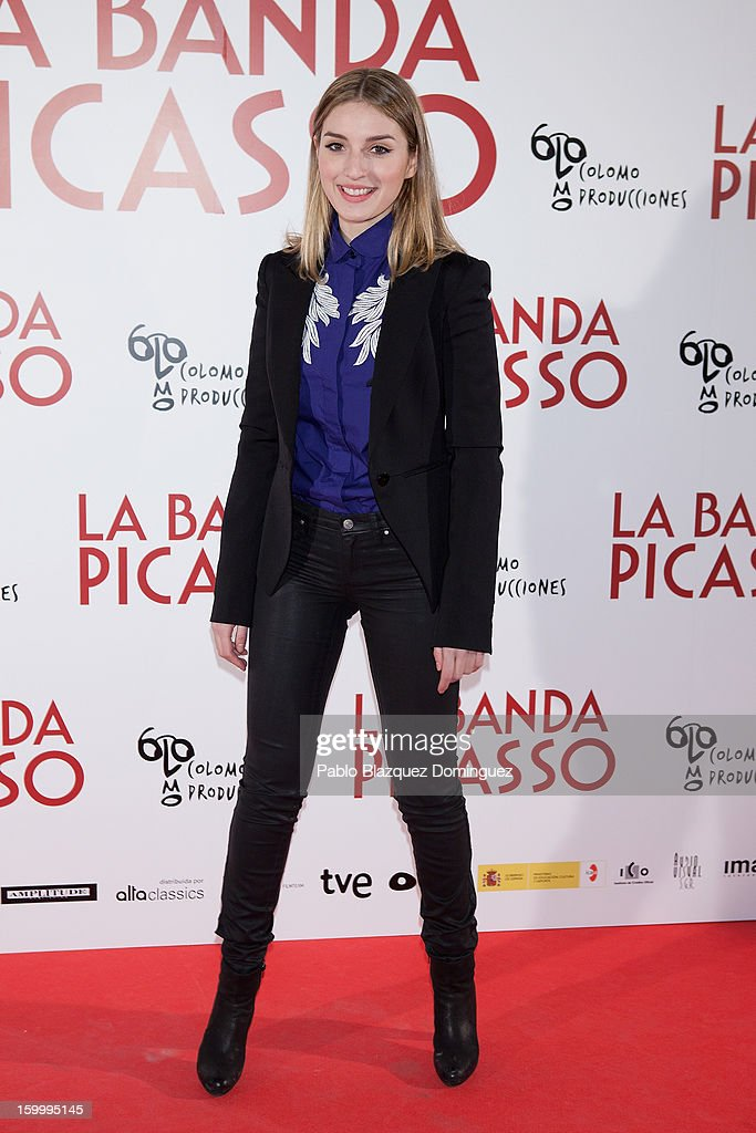 Actress Maria Valverde attends 'La Banda Picasso' Premiere at Capitol Cinema on January 24, 2013 in Madrid, Spain.