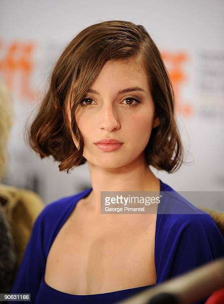 "Actress Maria Valverde speaks onstage at the ""Cracks"" press conference held at the Sutton Place Hotel on September 12, 2009 in Toronto, Canada."