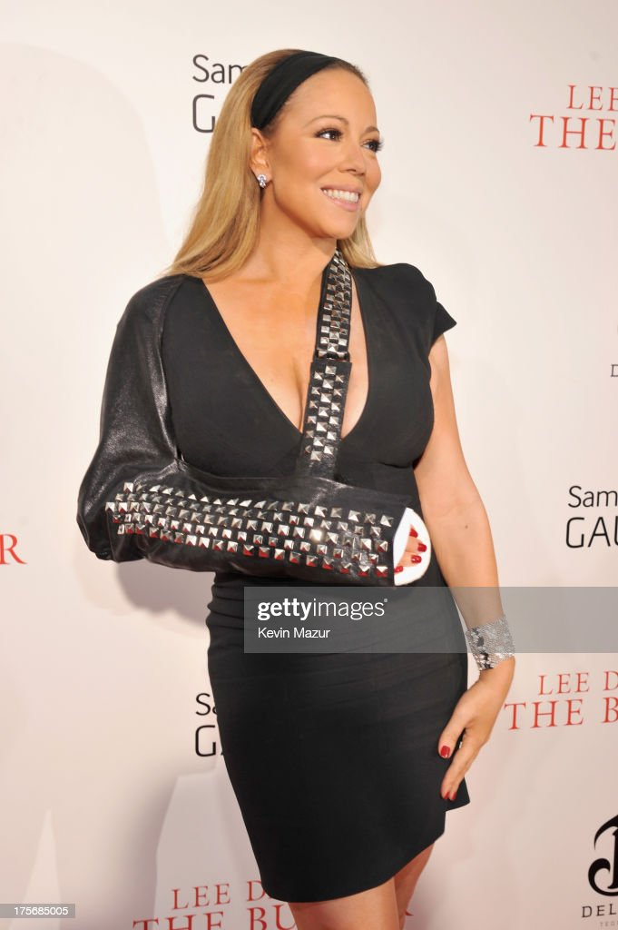 Actress Mariah Carey attends Lee Daniels' 'The Butler' New York premiere, hosted by TWC, DeLeon Tequila and Samsung Galaxy on August 5, 2013 in New York City.