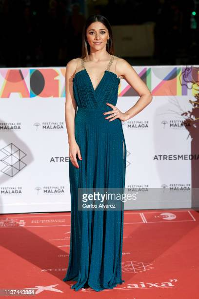 Actress Mariam Hernandez attend '¿Que Te Juegas premiere at the Cervantes Theater during the 22th Malaga Film Festival on March 21 2019 in Malaga...