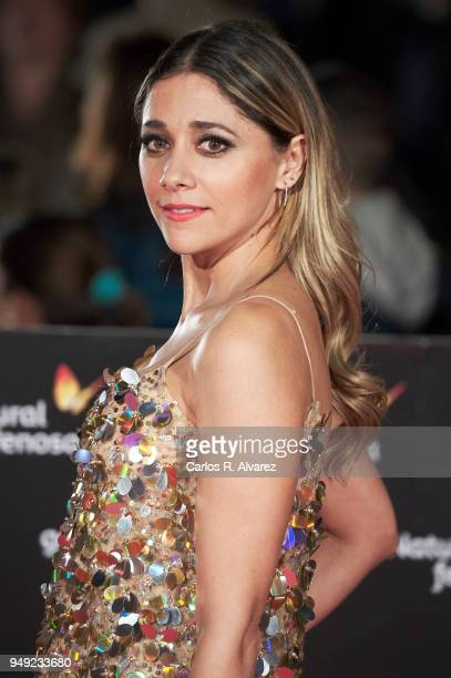Actress Mariam Hernandez attends 'Casi 40' premiere during the 21th Malaga Film Festival at the Cervantes Theater on April 20 2018 in Malaga Spain