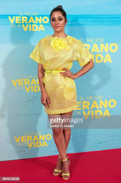 Actress Mariam Hernandez attends 'El Mejor Verano De Mi Vida' premiere at the Capitol cinema on July 9 2018 in Madrid Spain