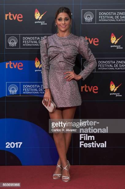 Actress Mariam Hernandez attends 'La Peste' premiere during the 65th San Sebastian International Film Festival on September 29 2017 in San Sebastian...