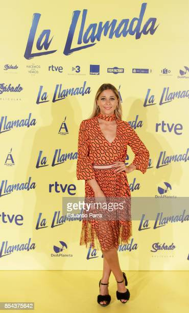 Actress Mariam Hernandez attends the 'La Llamada' premiere at Capitol cinema on September 26 2017 in Madrid Spain