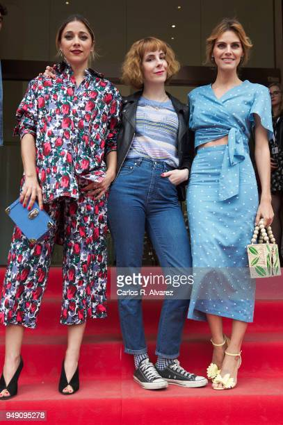 Actress Mariam Hernandez director Ines de Leon and actress Amaia Salamanca attend 'Que Te Juegas' photocall during the 21th Malaga Film Festival on...