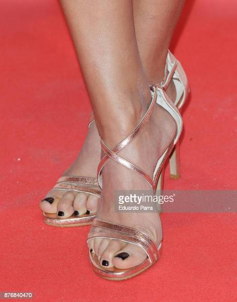 Actress Mariam Hernandez shoes detail attends Men's Health 2017 Awards photocall at Goya theater on November 20 2017 in Madrid Spain