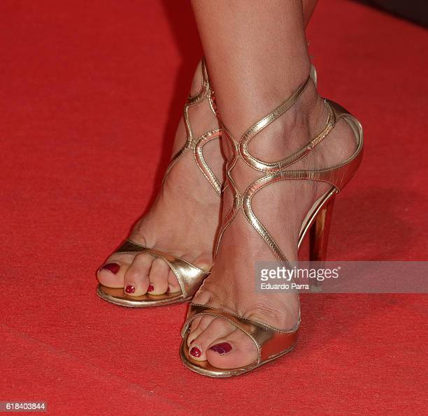Actress Mariam Hernandez shoes detail attends the 'Que Dios nos perdone' photocall at Capitol cinema on October 26 2016 in Madrid Spain