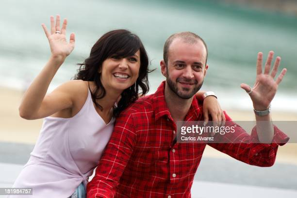 "Actress Marian Alvarez and director Fernando Franco attend a photocall for ""La Herida"" during the 61st San Sebastian International Film Festival at..."