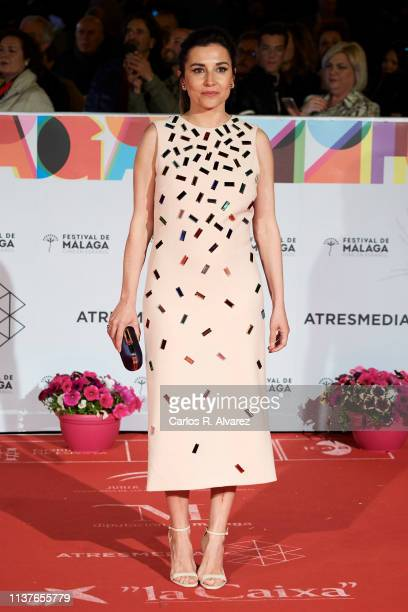 Actress Marian Alvarez attends the 'Retrospeciva' award ceremony during the 22th Malaga Film Festival on March 22 2019 in Malaga Spain