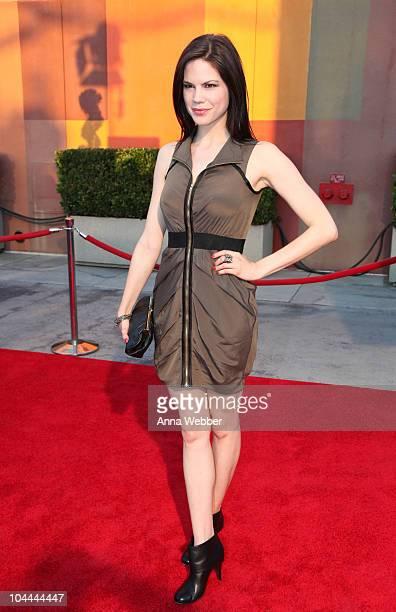 "Actress Mariana Klaveno arrives at the Universal Studios Hollywood ""Halloween Horror Night"" Eyegore Awards on September 24, 2010 in Universal City,..."