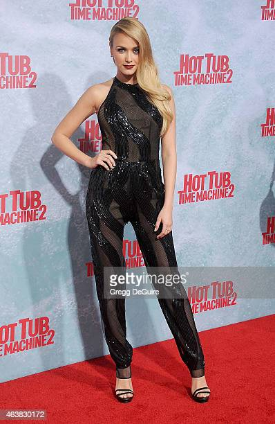 Actress Mariana Paola Vicente arrives at the Los Angeles premiere of Hot Tub Time Machine 2 at Regency Village Theatre on February 18 2015 in...