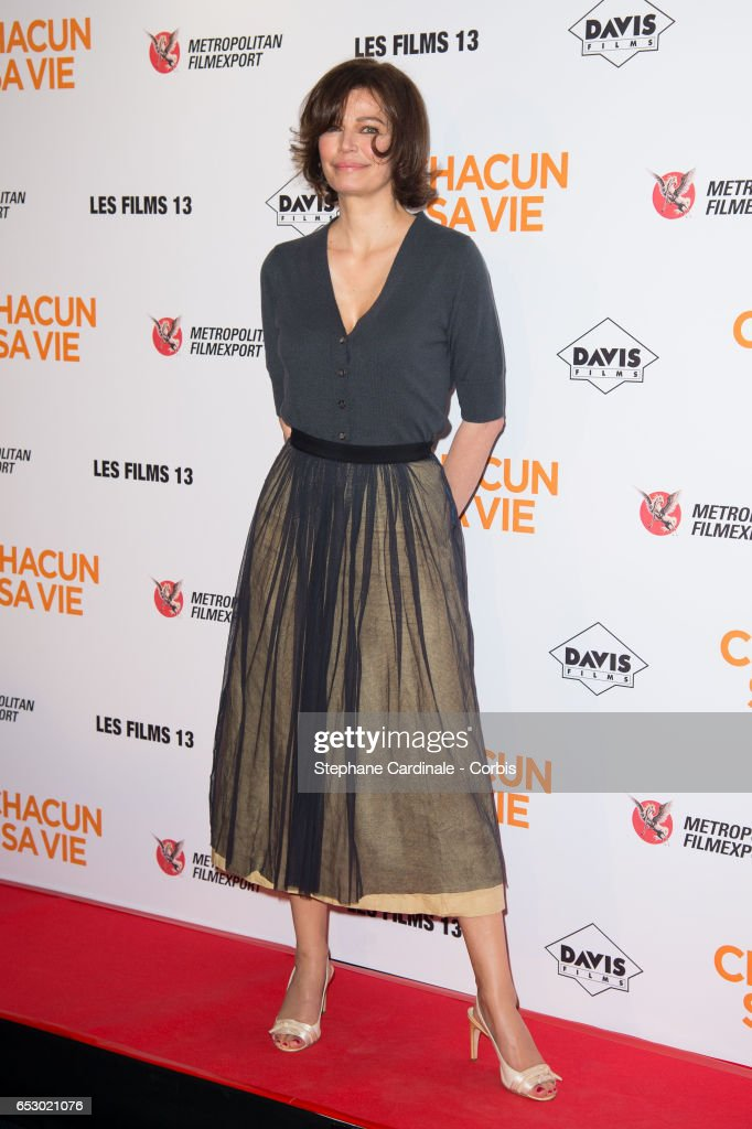 Actress Marianne Denicourt attends the 'Chacun Sa vie' Paris Premiere at Cinema UGC Normandie on March 13, 2017 in Paris, France.
