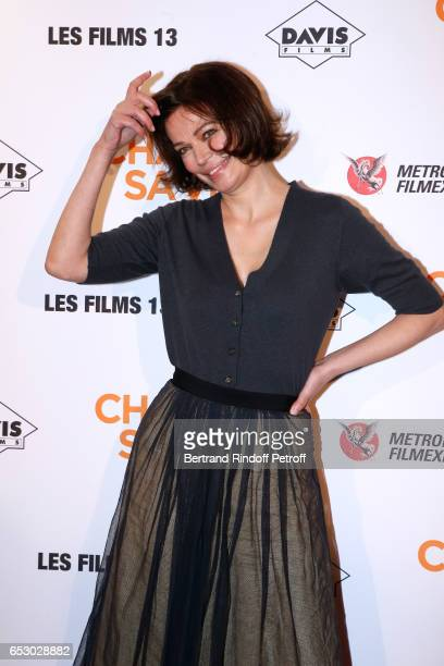 Actress Marianne Denicourt attends the 'Chacun sa vie' Paris Premiere at Cinema UGC Normandie on March 13 2017 in Paris France