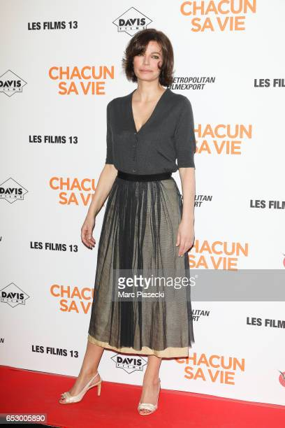 Actress Marianne Denicourt attends the 'Chacun sa vie' Premiere at Cinema UGC Normandie on March 13 2017 in Paris France