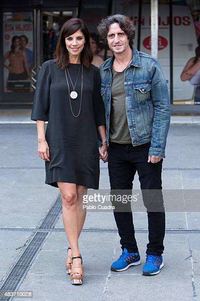 Actress Maribel Verdu and actor Diego Peretti present 'Sin Hijos' at Princesa Cinema on August 12 2015 in Madrid Spain