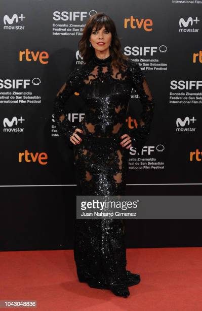 Actress Maribel Verdu attends the red carpet of the closure gala during 66th San Sebastian Film Festival at Kursaal on September 29 2018 in San...