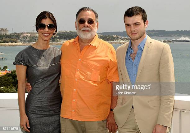 Actress Maribel Verdu writer/director Francis Ford Coppola and actor Alden Ehrenreich attend the Tetro Photocall at the Palais des Festivals during...