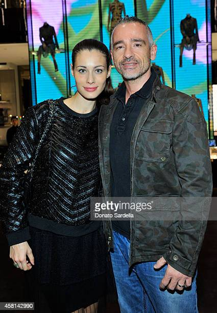 Actress Marica Pellegrinelli and musician Eros Ramazzotti attend a cocktail party hosted by Gucci's Frida Giannini and Patrizio Di Marco to celebrate...