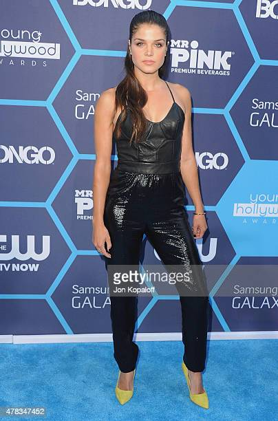 Actress Marie Avgeropoulos arrives at the 16th Annual Young Hollywood Awards at The Wiltern on July 27 2014 in Los Angeles California