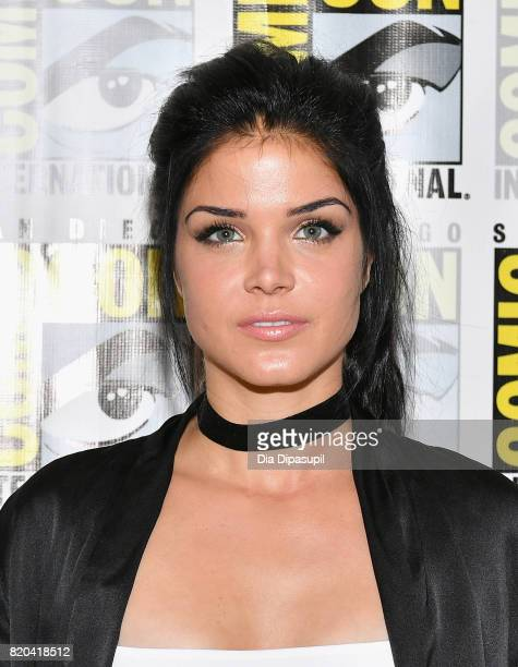 Actress Marie Avgeropoulos at The 100 Press Line during ComicCon International 2017 at Hilton Bayfront on July 21 2017 in San Diego California