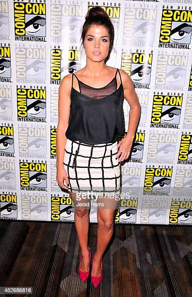 Actress Marie Avgeropoulos attends 'The 100' Press Line during ComicCon International 2014 at Hilton Bayfront on July 25 2014 in San Diego California