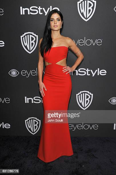 Actress Marie Avgeropoulos attends The 2017 InStyle and Warner Bros 73rd Annual Golden Globe Awards PostParty at The Beverly Hilton Hotel on January...