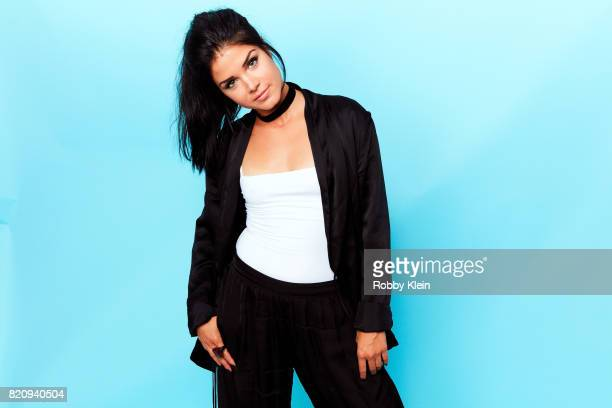 Actress Marie Avgeropoulos poses for a portrait during ComicCon 2017 at Hard Rock Hotel San Diego on July 21 2017 in San Diego California