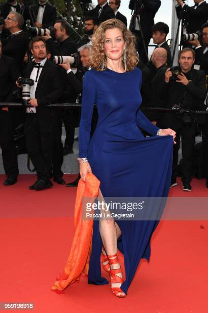 Actress Marie Baeumer attends the screening of 'Burning' during the 71st annual Cannes Film Festival at Palais des Festivals on May 16 2018 in Cannes...