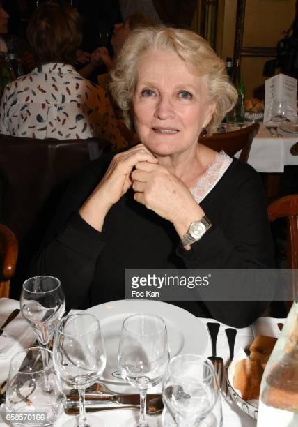 Actress Marie Christine Barrault attends 'Journees du Livre et du Vin 2017' Jury Deliberation Lunch at Le Procope on March 27 2017 in Paris France