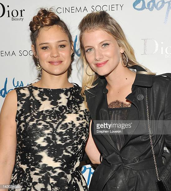 Actress Marie Denarnaud and writer/director/actress Melanie Laurent attend the Cinema Society Dior Beauty screening of 'The Adopted' at the Tribeca...