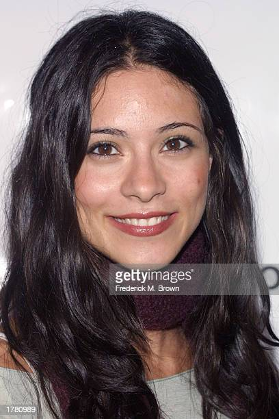 Actress Marie Elena Laas attends the Last Chance For Animals fundraiser party on February 12 2003 in Los Angeles California The event benefits...