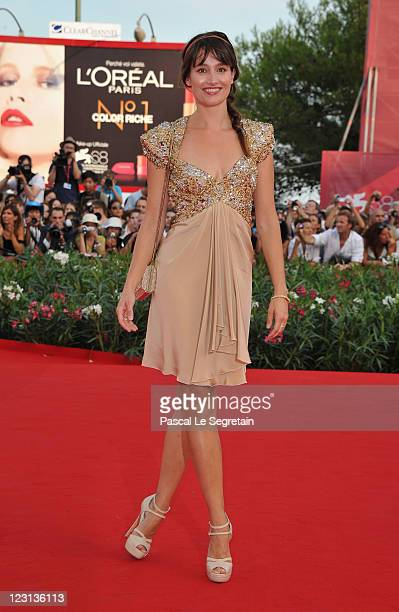 Actress Marie Gillain attends The Ides Of March premiere during the 68th Venice Film Festival at the Palazzo del Cinema on August 31 2011 in Venice...