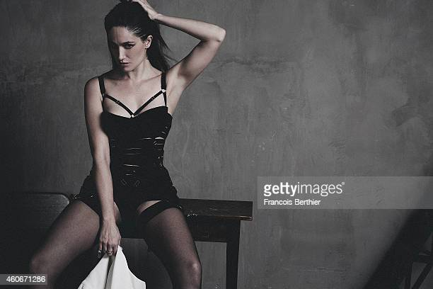 Actress Marie Gillain is photographed for Self Assignment on November 20 2014 in Paris France