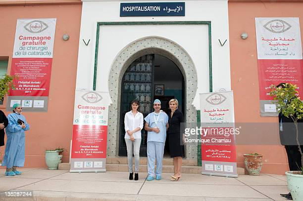 Actress Marie Gillain visit Marrakech Hospital Department of Ophthalmology accompanied by Dr Omar Berbich and Melita Toscan du Plantier on December 8...