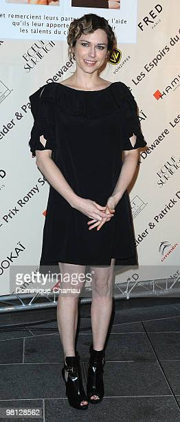 Actress Marie Josee Croze poses as she arrives to attends the Romy Schneider And Patrick Dewaere Awards Ceremony at Hotel Renaissance on March 29...