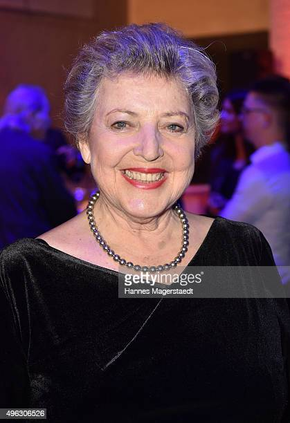 Actress Marie Luise Marjan during the 5th German Director Award Metropolis at HFF on November 8 2015 in Munich Germany