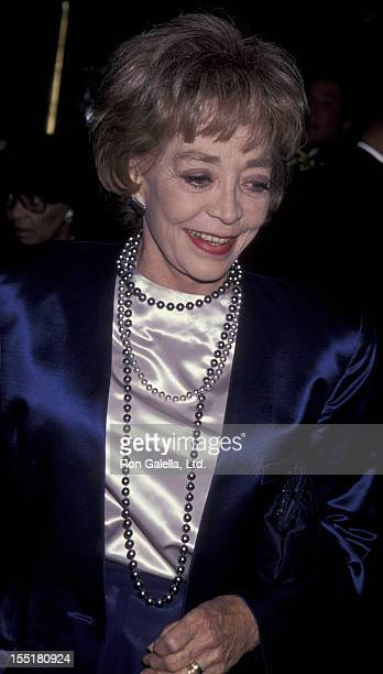 Actress Marie Windsor attends 50th Anniversary Party for Charlton and Lydia Heston on March 18 1994 at the Nikko Hotel in Beverly Hills California