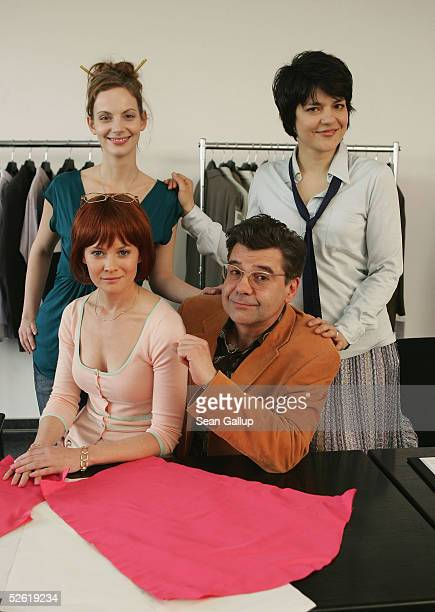 Actress Marie Zielcke , actress Jasmin Tabatabai , actress Lisa Karlstroem and actor Ralph Misske pose during a photocall on the set of the new SAT.1...