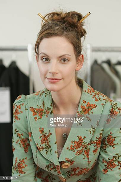 """Actress Marie Zielcke poses during a photocall on the set of the new SAT.1 television film """"Noch Einmal Leben"""" April 12, 2005 in Berlin, Germany."""