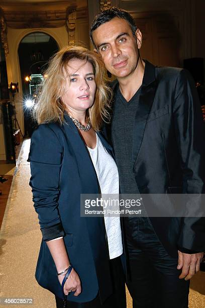 Actress MarieAmelie Seigner and Dragan Nikolic attend the Alexis Mabille show as part of the Paris Fashion Week Womenswear Spring/Summer 2015 on...