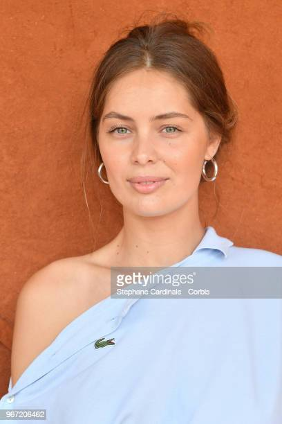 Actress MarieAnge Casta attends the 2018 French Open Day Nine at Roland Garros on June 4 2018 in Paris France